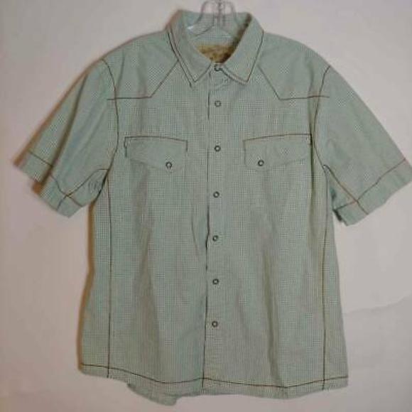 American Rag Other - American Rag Cie Western Shirt Green Plaid Large
